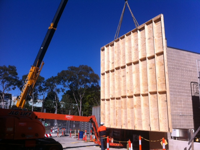 Rosehill Substation, protective hoarding works